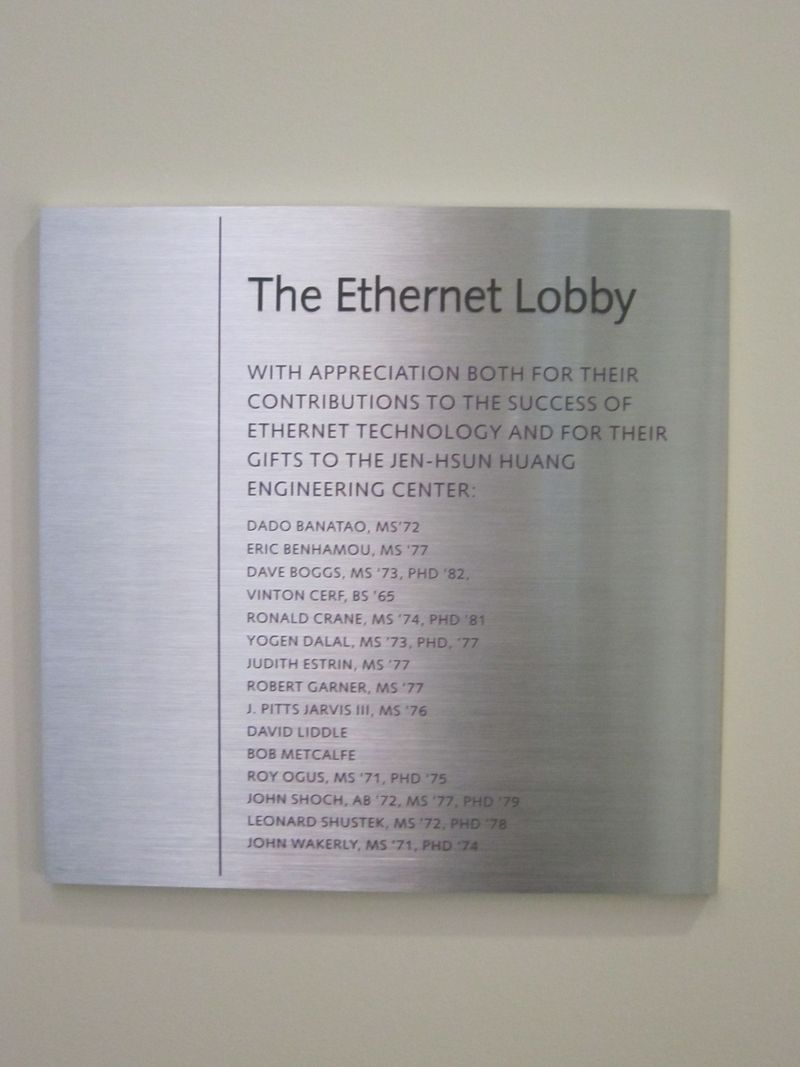 Ethernet Lobby Plaque